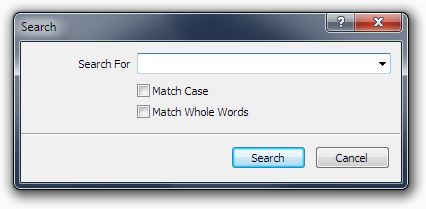 The Search Dialog box.